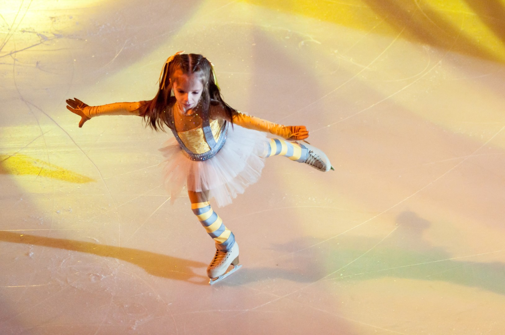 Orenburg, Russia - 26.03.2016: Children skater in competitions